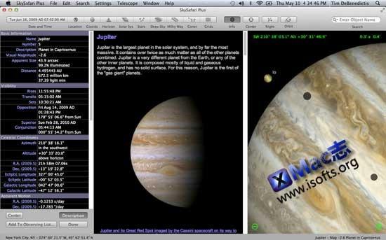 Mac平台的天文数据库工具 : SkySafari