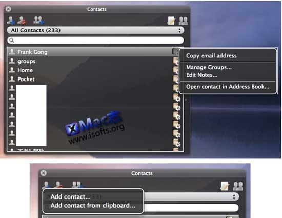 Guenon Contacts : Mac平台的支持从剪贴板创建并添加联系人和分组的通讯薄