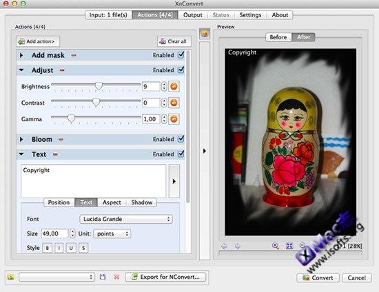 XnConvert for Mac : Mac平台的图像批量处理工具【免费】