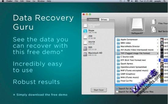 Mac平台专业的数据恢复软件 : Data Recovery Guru