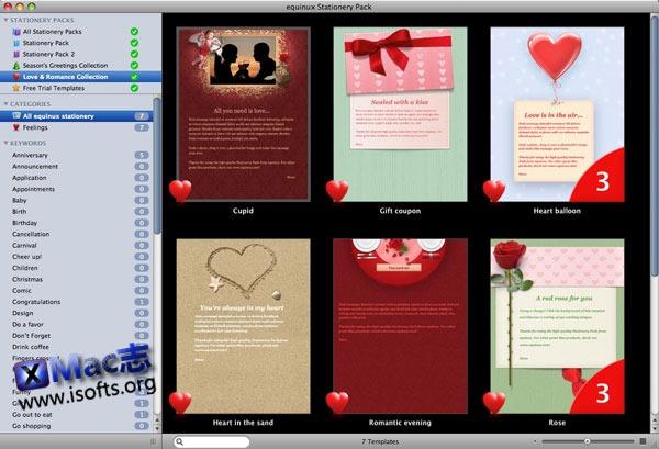 Mac平台的邮件模板套装 : Stationery Pack