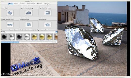 Mac平台的实时光线渲染软件 : KeyShot
