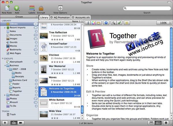 Mac平台的文件整理工具 : Together