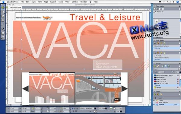 Mac平台最好的版面排版设计工具 : QuarkXpress