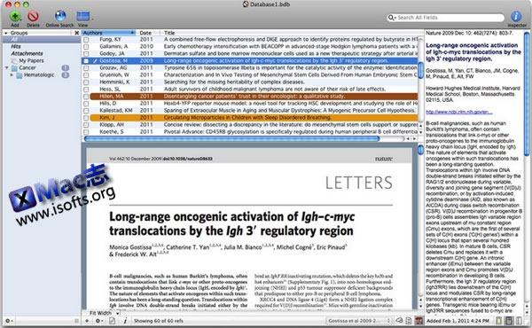 Mac平台的文献书籍管理工具 : Bookends
