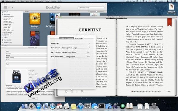 Mac平台优秀的电子书阅读器 : BookReader