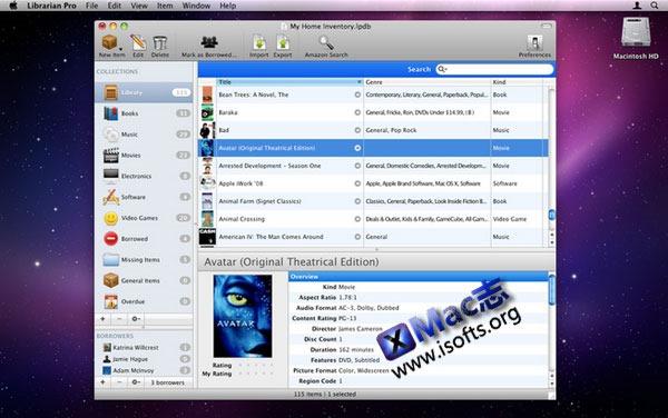 Mac平台的多媒体信息管理工具 : Librarian Pro for Mac
