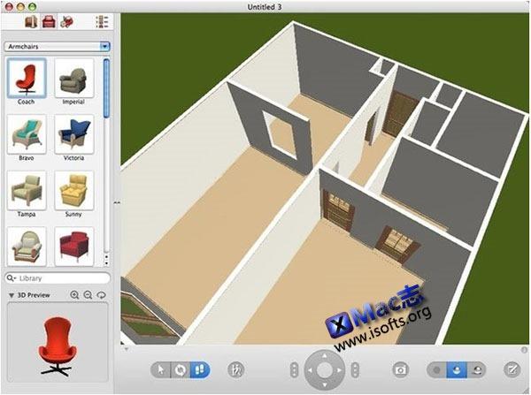 Mac平台的室内装潢设计软件 : Live Interior 3D Pro