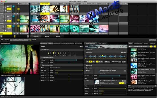 Mac平台专业的VJ软件 : Resolume Arena for Mac