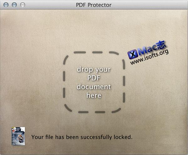 Mac平台的PDF文件加密解密工具 : PDF Protector