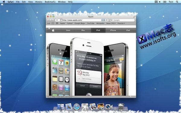 Mac平台的桌面下雪特效工具 : Let It Snow