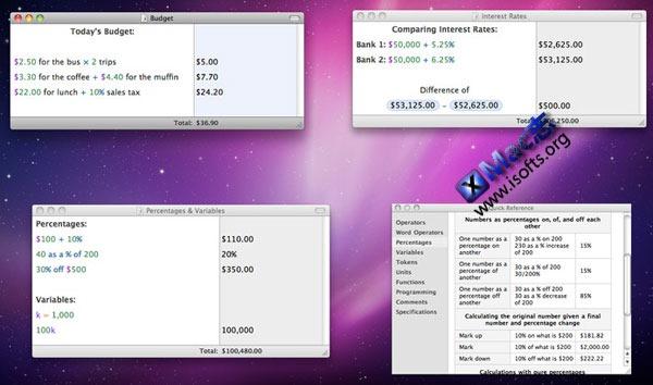 Mac平台的多功能增强型计算器 : Soulver