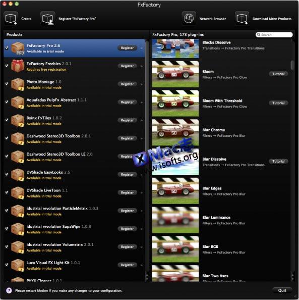 Mac平台的影片后期特效制作工具 : FXFactory