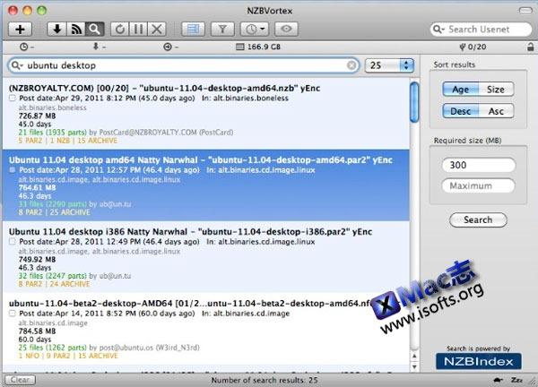 Mac平台简化的Usenet NZB下载客户端 : NZBVortex
