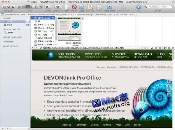 Mac平台的文件管理工具 : Devonthink Pro Office