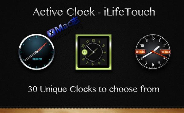 Mac平台的桌面时钟工具 : Active Clock