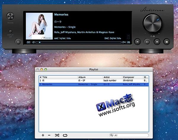 Mac平台的高品质无损音乐播放器 : Audirvana Plus