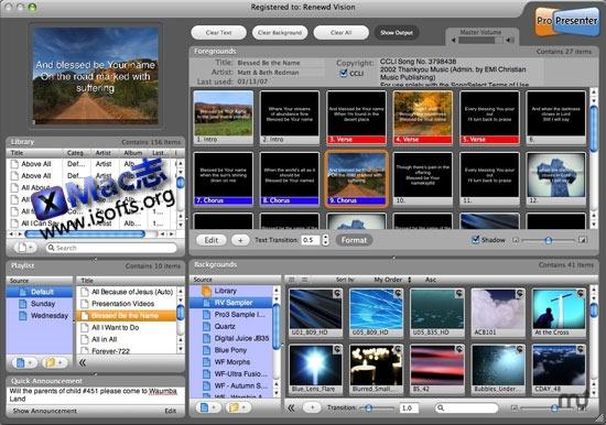Mac平台支持双屏的专业演示工具 : ProPresenter