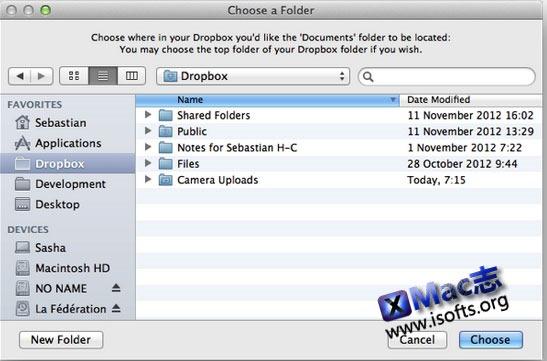 Mac平台同步任意文件夹到Dropbox/Skydrive/iCloud等云存储服务 : MacDropAny