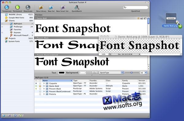 Mac平台强大的字体管理工具 : Suitcase Fusion 4