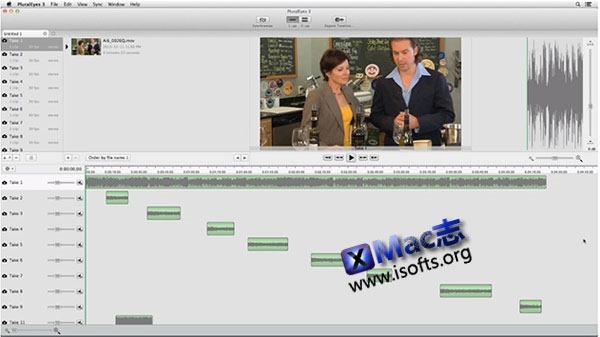 Mac平台下在Final Cut Pro中实现音视频同步 : PluralEyes