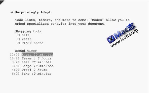 Mac平台的多功能文本编辑器 : FoldingText