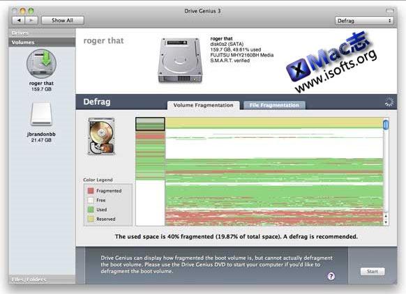 Mac平台的磁盘管理优化工具 : Drive Genius