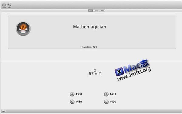 Mac平台的速算法学习工具 : Mathemagics