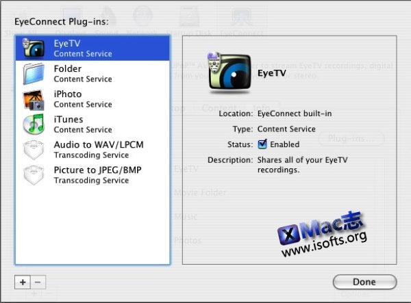 将Mac电脑打造成为多媒体服务器 : EyeConnect