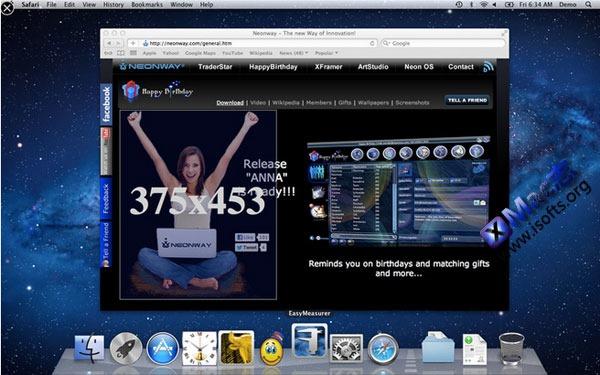 Mac平台的屏幕测量标尺工具 : EasyMeasurer