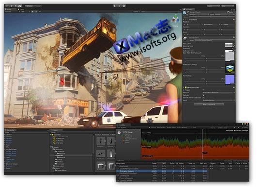 Mac平台的游戏开发工具软件 : Unity Pro