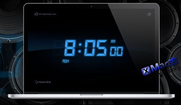 Mac平台精美的闹钟应用 : My Alarm Clock