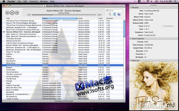 Mac平台的高保真音乐播放器 : Decibel