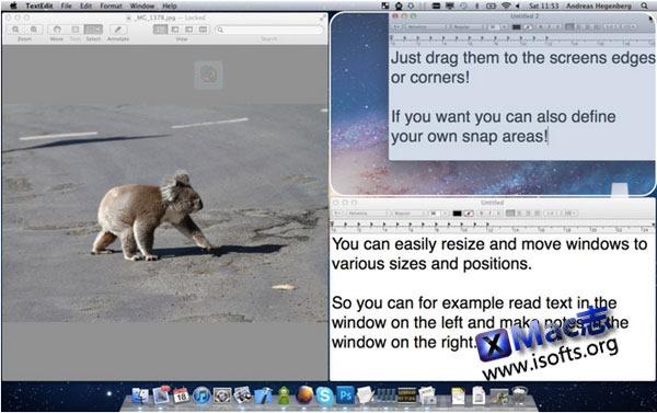 Mac平台的窗口大小及位置设置工具 : BetterSnapTool