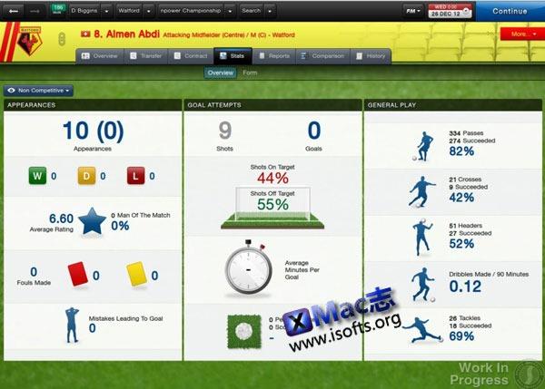 FM2013(Football Manager 2013) For Mac 简体中文版
