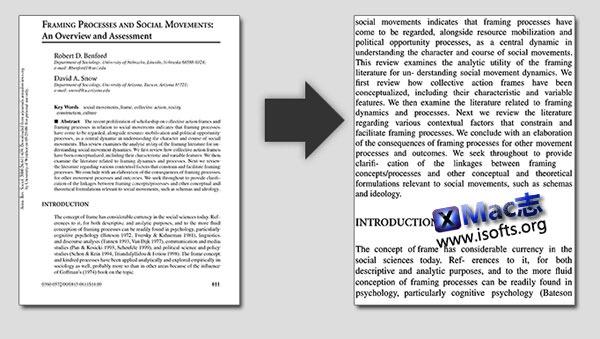 Mac平台下将PDF文件转换成Kindle设备适应格式 : reFlower for Mac