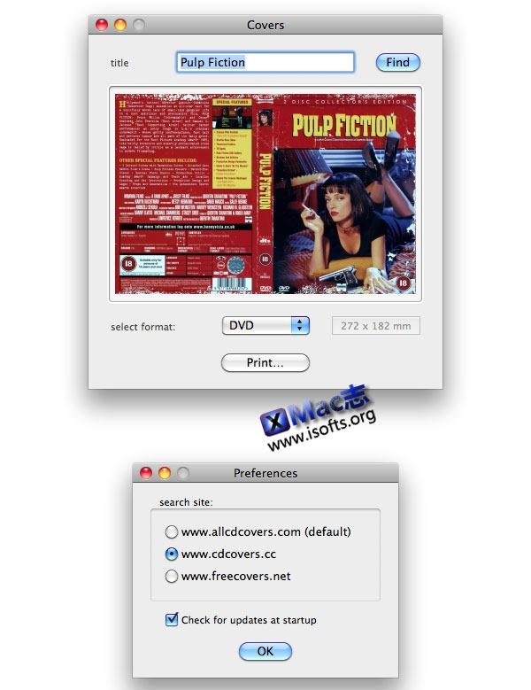 Mac平台的电影DVD音乐CD封面搜索下载工具 : Covers 2