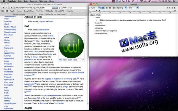 Mac平台的窗口快速排列工具 : iSnap
