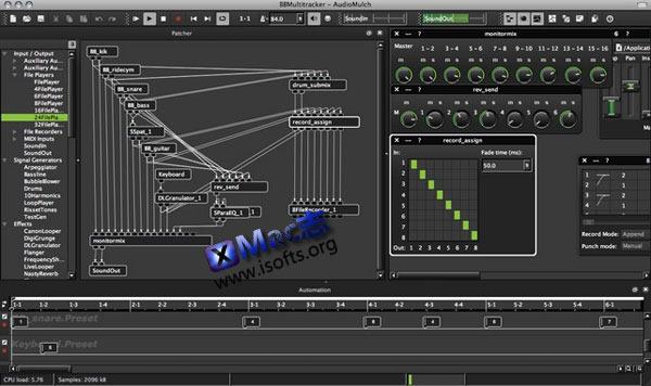 Mac平台的声音合成与音效处理软件 : AudioMulch
