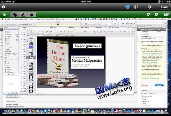 Mac平台的交互式白板/远程控制/屏幕录像工具 : Doceri desktop
