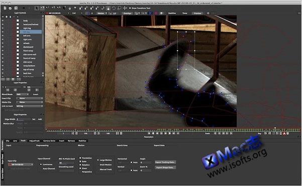 Mac平台的视频处理及特效工具 : Mocha Pro