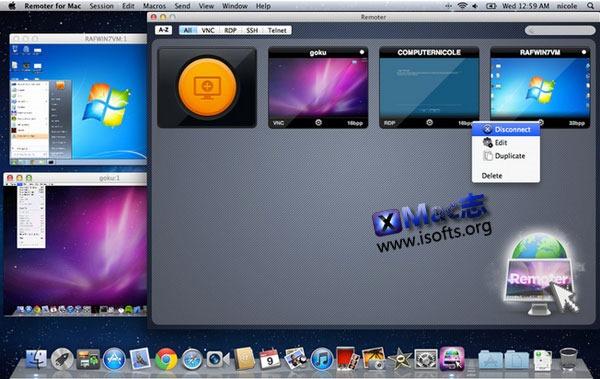 Mac平台的远程桌面控制软件 : Remoter for mac