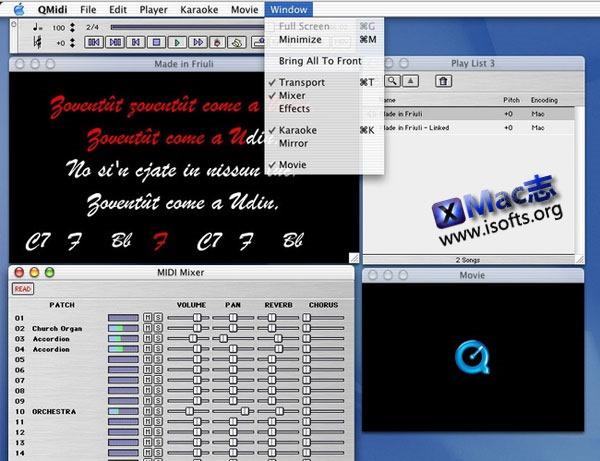 Mac上的终极MIDI/卡拉OK播放器 : QMidi Pro