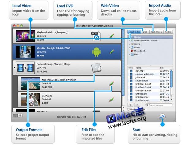 Mac平台的全能视频格式转换工具 : Aimersoft Video Converter Ultimate
