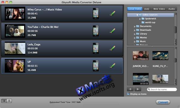 Mac平台超强的视频格式转换工具 : iSkysoft iMedia Converter Deluxe