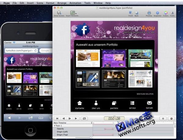 Mac平台的HTML5动画制作工具 : Hype