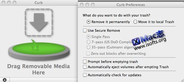 Mac平台的移动设备数据彻底删除工具 : Curb