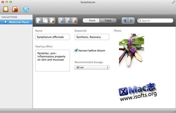 Mac平台整合云服务的数据组织管理工具 : Symphytum