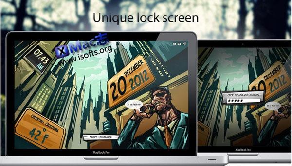 让Mac像iPhone一样滑动解锁 : Lock Screen Plus