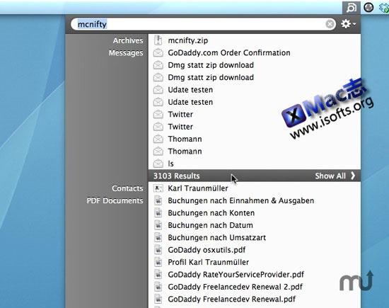 Mac平台的改善Spotlight搜索功能的增强工具 : Disklens